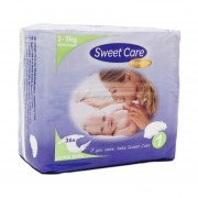 SweetCare Ultradunne Luiers Newborn Mt 1