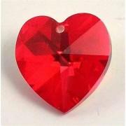 Regnbågsvävar Hjärta 18 mm ljusröd