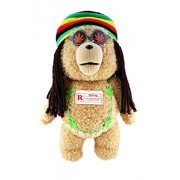 Ted Bear in Rasta Outfit 16 Plush with Sound and Moving Mouth - R-rated, 5 Phrases (Explicit Language) by Commonwealth Toys