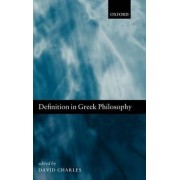 Definition in Greek Philosophy by David Charles