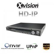 HD IP NVR rekordér pro 9/16 kamer 1080P / 720p