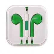 Earpods with remote and mic - слушалки с микрофон и управление на звука за iPhone, iPod, iPad и мобилни устройства (зелени)