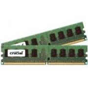 Crucial - DDR2 - 2 Go : 2 x 1 Go - FB-DIMM 240-pin - 667 MHz / PC2-5300 - CL5 - 1.8 V - Pleinement mémorisé - ECC