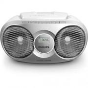 CD Audio System, Philips AZ215S, 2x1W RMS, FM/MW, Silver
