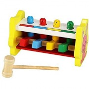 (US STOCK)Arshiner Wooden Toys Pound And Tap Bench Wooden Pounding Bench For Kids