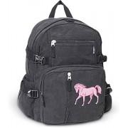 Horse Backpack Canvas Horses School or Travel Bag