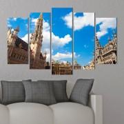 Декоративни панели за стена с изглед от Брюксел Vivid Home