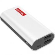 Baterie Externa Powa 5200 mAh cu Doua Porturi USB Alb Noontec