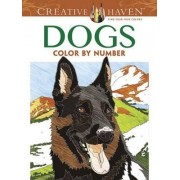 Creative Haven Dogs Color by Number Coloring Book by Diego Pereira