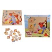 Eichhorn 100003382 - Winnie-the-Pooh, Gioco in Legno, 2 in 1 Memo e Puzzle