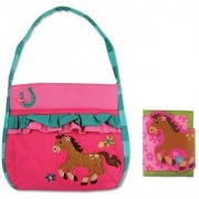 Stephen Joseph Quilted Horse Purse and Wallet for Little Girls