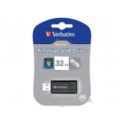 Pendrive Verbatim 32 GB Pin Stripe, negru