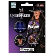 Pyramid - 41000 - WWE Set de 4 badges - Undertaker