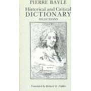 Historical and Critical Dictionary by Pierre Bayle