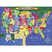 White Mountain Puzzles USA Map - 300 Piece Jigsaw Puzzle