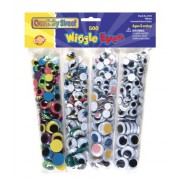 Wiggle Eyes, 500/PK, Assorted Colors/Sizes, Sold as 1 Package