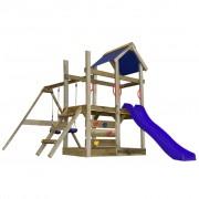 vidaXL Playhouse Set with Ladder, Slide and Swings 400x226x245 cm Wood