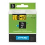 Dymo D1 Label Cassette 24mmx7m (SD53718) - Black on Yellow