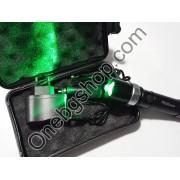 Мощен акумулаторен прожектор за лов и риболов със зeлена светлина LED диод 180000W