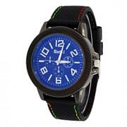 Masculino Relógio de Pulso Quartz PU Banda Preta marca-