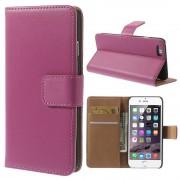Hot Pink PU lederen Portemonnee hoesje voor de iPhone 6/6S Plus Wallet Case