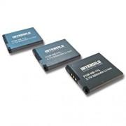 INTENSILO 3x Li-Ion Batterie 600mAh (3.7V) pour cam?ra Canon PowerShot A2300, A2400, A2400 IS, A2500, A2600, A3200, A3300 comme NB-11L.