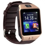Bluetooth Smartwatch Golden(Sim Supported) with apps (facebook whatsapp twitter etc.) compatible with Micromax Canvas Xpress 2 E313 by Creative