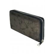 Metalic dámská peněženka na zip stříbrná