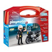 Playmobil 5648 Carrying Case Small Police Building Kit