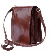 Florence Leather Market Cartella a tracolla in pelle lucida e conciata al vegetale (Piccolo) (6515)