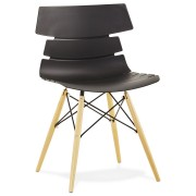 Chaise moderne 'SOFY' noire style scandinave