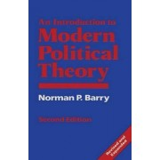 An Introduction to Modern Political Theory 1989 by Norman P. Barry