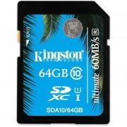 Card Kingston SDXC 64GB Clasa 10 SDA10/64GB