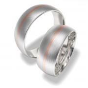 Luxusní Ocelové snubní prsteny 7019