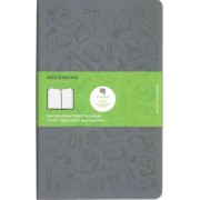Moleskine Evernote Smart Ruled Notebook Large Hard Cover Slate Grey