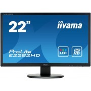 "Monitor TN LED iiyama 21.5"" E2282HD, Full HD (1920 x 1080), DVI, VGA, 5 ms (Negru)"