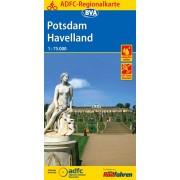 Fietskaart ADFC Regionalkarte Potsdam Havelland | BVA