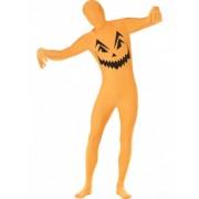 Disfarce segunda pele abóbora adulto Halloween XL
