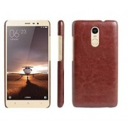 First 4 Cover For Xiaomi Redmi Note 3 Leather Back Cover (Brown)
