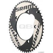 Sram Chainring Road 53t 5 Bolt 130mm Bcd Alum Red Tt (53-39) 4mm Black [Misc.]