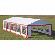 vidaXL Tenda para festa com painéis laterais, 10 x 5 m Vermelho e Branco
