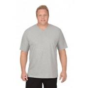 Trigema Herren V-Shirt DELUXE Baumwolle Größe: 5XL Material: 100 % Baumwolle, Ringgarn supergekämmt Farbe: grau-melange