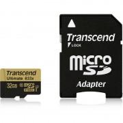 Card Transcend microSDHC Ultimate 32GB Clasa 10 UHS-I U3 633x cu adaptor SD