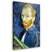 Vincent Van Gogh: Önarckép palettával (20x25 cm, Vászonkép )