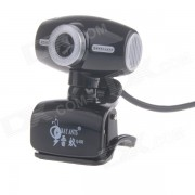 RAYANTS Q-355 8.0MP HD Webcam with Night Vision Light - Black