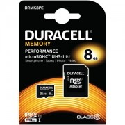 Duracell 8GB microSDHC UHS-I geheugenkaart incl SD adapter (DRMK8PE)