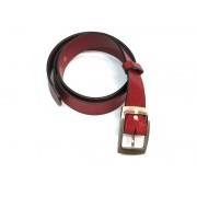 Skórzany pasek damski SIENA, kolor czerwony