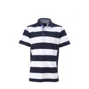 James & Nicholson Maritime Polo para hombre de inspiración marinera azul azul marino, blanco Talla:xx-large