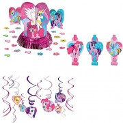 My Little Pony Decoration Kit Including Table Decoration, Hanging Swirls and Paper Blowouts