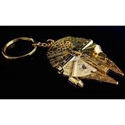 Star Wars Gold Millennium Falcon Replica Key Chain - SDCC Exclusive